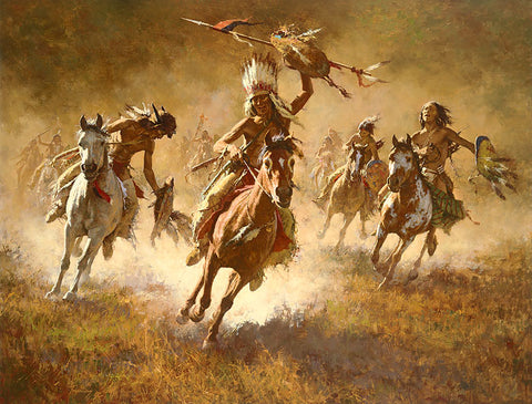 Mystic Power of the War Shield by Howard Terpning