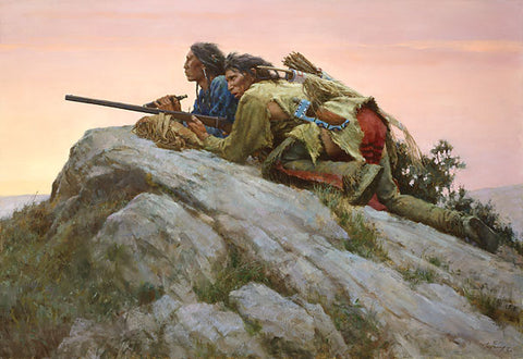 Sharpshooters Closing on the Herd by Howard Terpning