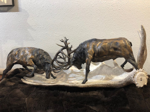 Fighting Elk Bronze