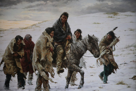 Chief Joseph Rides to Surrender by Howard Terpning