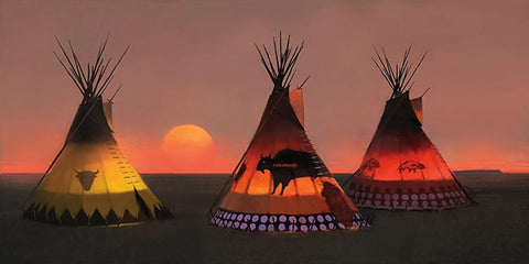 Indian Sunset II Museum Edition Canvas by R. Tom Gilleon