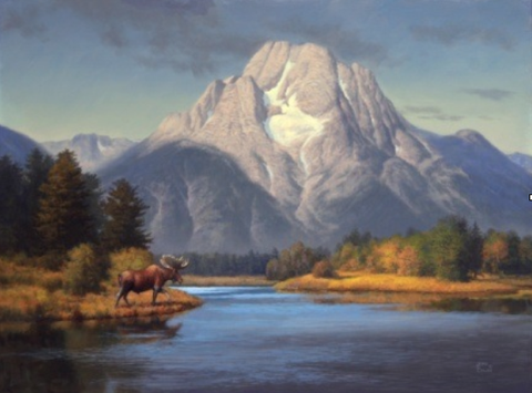 Mount Moran Gold by John Cogan