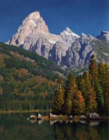 Grand Teton and Morning Stillness by John Cogan