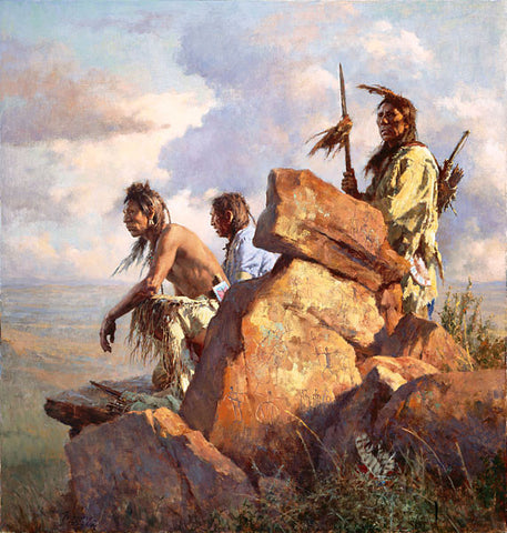 Among the Spirits of the Long-Ago People Limited Edition Canvas by Howard Terpning