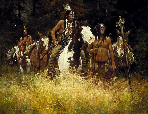 The Warning by Howard Terpning