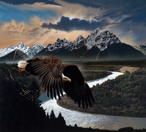 My Spirit Soars on Eagles Wings by JD Challenger