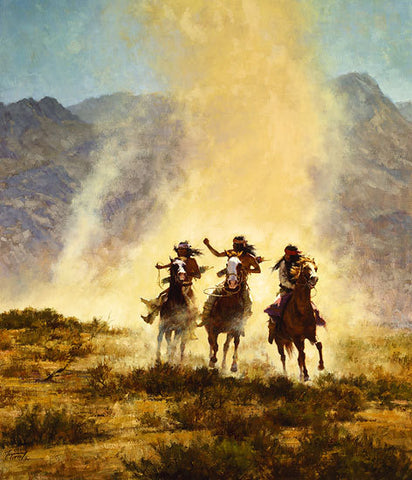 Chased by the Devil  by Howard Terpning