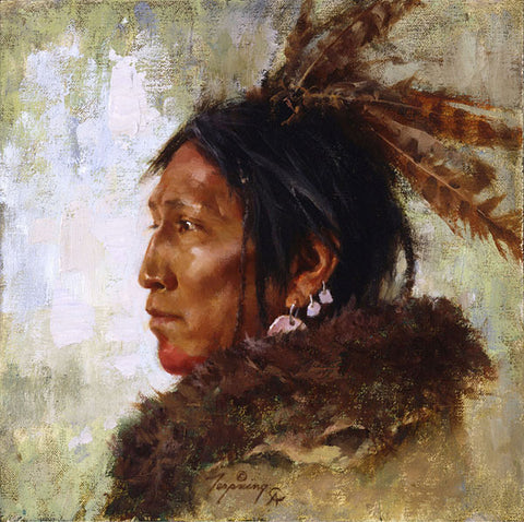 Hawk Feathers by Howard Terpning