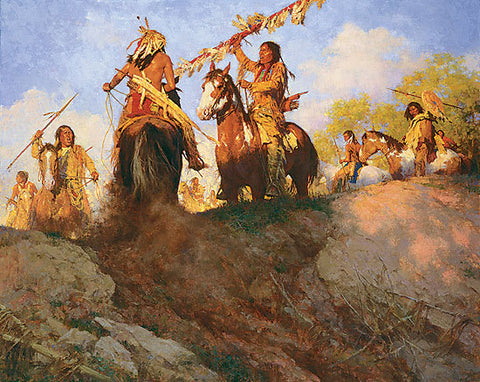 Sunset for the Comanche by Howard Terpning