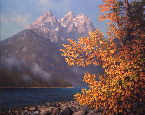 Gold in the Tetons by John Cogan