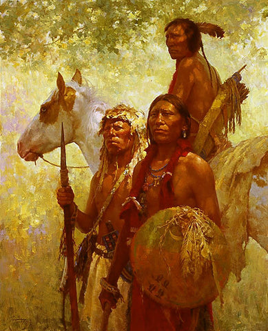Protectors of the Cheyenne People  by Howard Terpning