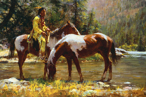 Solitude  by Howard Terpning