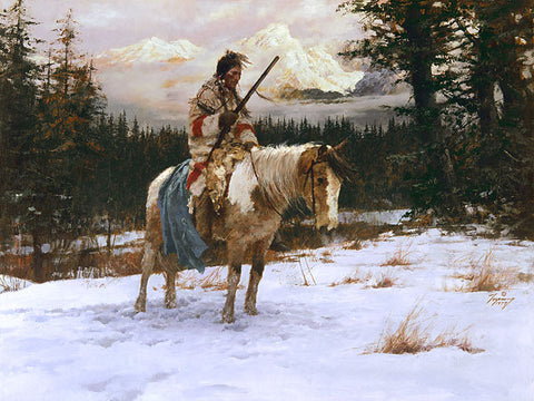 The Lonely Sentinel  by Howard Terpning
