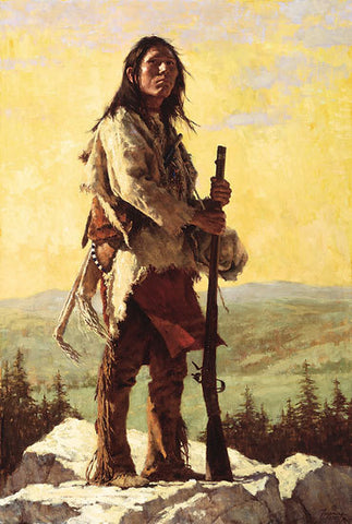 The Long Trail Ahead  by Howard Terpning