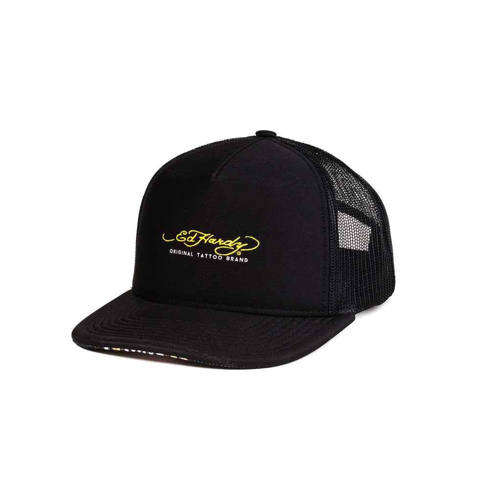 Boné Trucker Ed Hardy Original Black