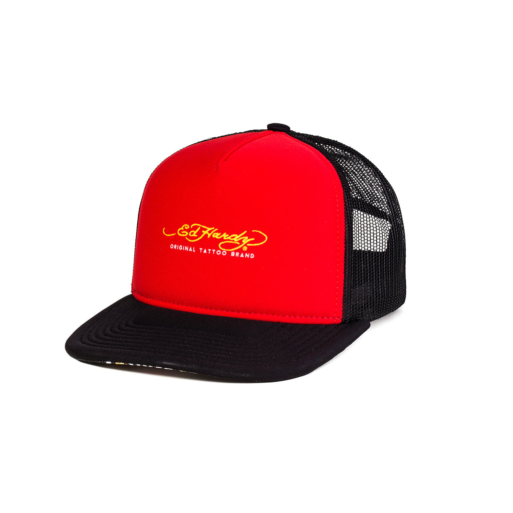 Boné Trucker Ed Hardy Original Red