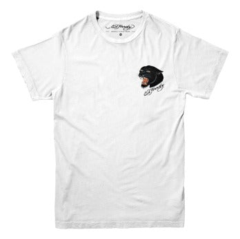 Camiseta Ed Hardy Black Panther Signature Branco