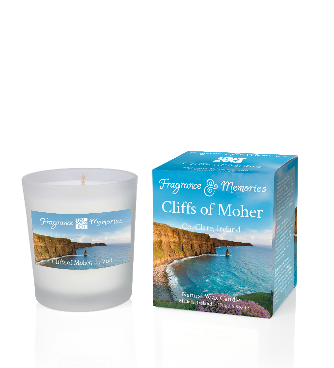 Fragrance & Memories of Ireland - Cliffs of Moher Travel Candle
