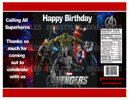 Avengers, Black Panther printable chip bag, DOWNLOAD ONLY - Diva Accessories N More