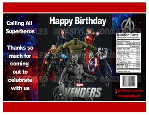 graphic about Printable Chip Bags referred to as Avengers, Black Panther printable chip bag, Down load Just