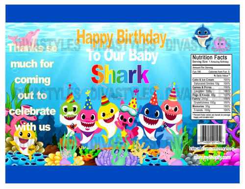 Baby Shark Age printable chip bag, DOWNLOAD ONLY - Diva Accessories N More