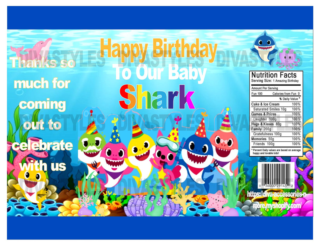 photo relating to Printable Chip Bags known as Kid Shark Age printable chip bag, Down load Merely