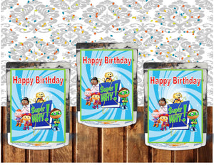 CapriSun juice Label Super Why, super readers boys, girl, printable, instant download, birthday, party favor, - Diva Accessories N More