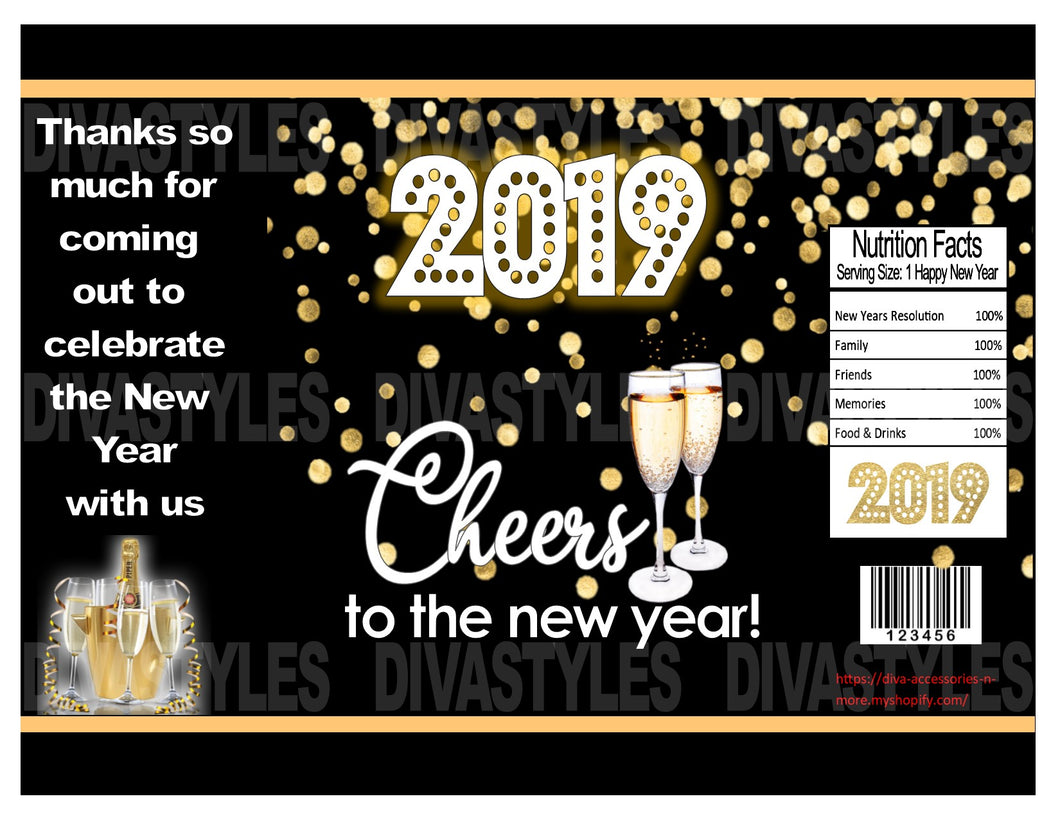 New Year's printable Chip Bag - Diva Accessories N More