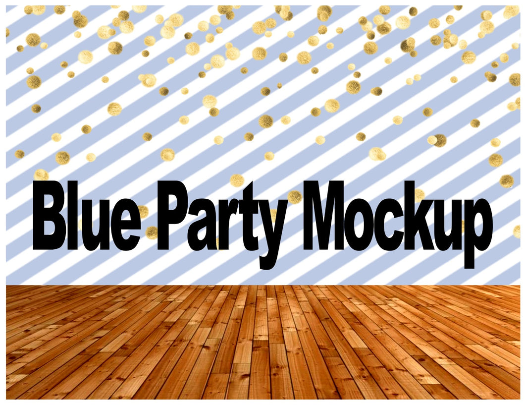 Mockup Template Blue Party - Diva Accessories N More
