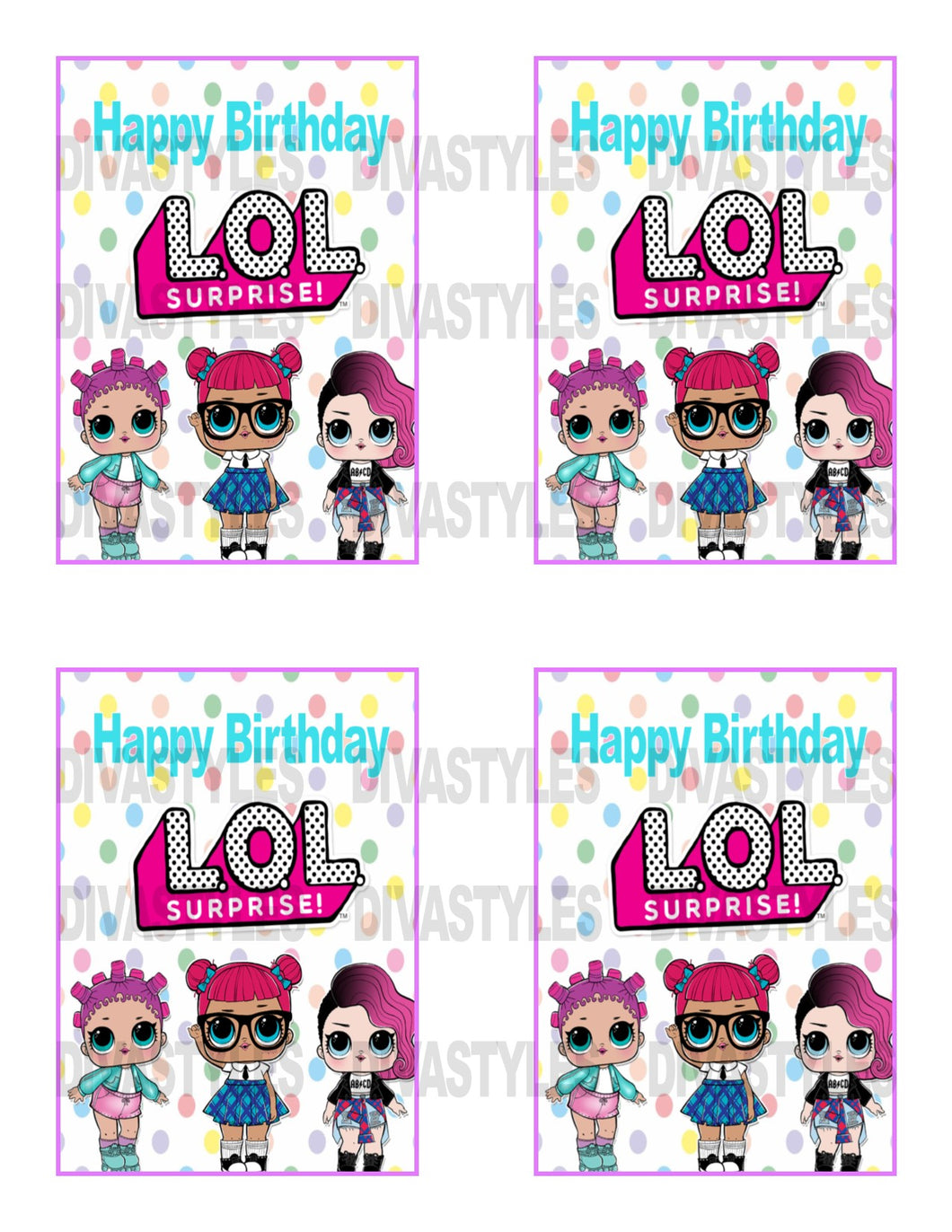 LOL DOLL pink Caprisun printable download - Diva Accessories N More