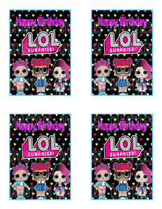 LOL DOLL teal Caprisun printable download - Diva Accessories N More
