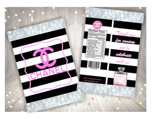 Chanel themed printable chip bag, DOWNLOAD ONLY - Diva Accessories N More