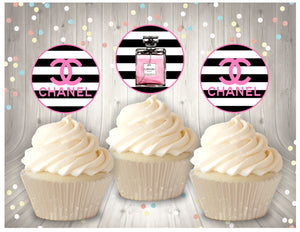 Chanel printable cupcake toppers - Diva Accessories N More
