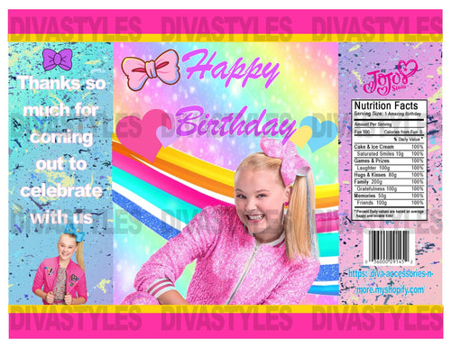JoJo Siwa theme printable chip bag, DOWNLOAD ONLY - Diva Accessories N More