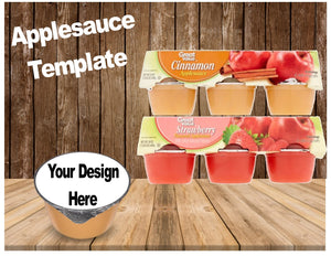 Applesauce & Fruit Cup TEMPLATE - Diva Accessories N More