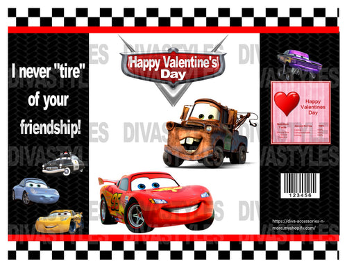 Cars, Lighting McQueen themed printable chip bag, DOWNLOAD ONLY - Diva Accessories N More