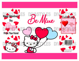 Valentine's Day Hello Kitty themed printable chip bag, DOWNLOAD ONLY - Diva Accessories N More