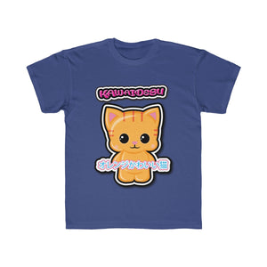 Kids Kawaii Orange Cat Tee