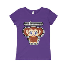 Load image into Gallery viewer, Monkey Girls Princess Tee