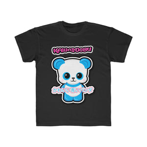 Kids Kawaii Blue Panda Tee