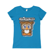 Load image into Gallery viewer, Owl Girls Princess Tee