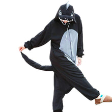 Load image into Gallery viewer, Lifeye Men Women Black Dragon Pajamas Animal Cosplay Costume