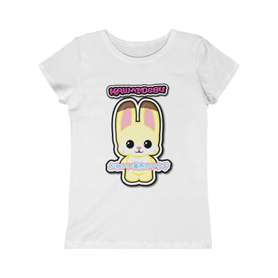 Girls Kawaii Yellow Rabbit Tee