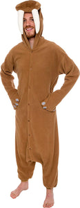 Silver Lilly Unisex Adult Pajamas - Plush One Piece Cosplay Walrus Animal Costume