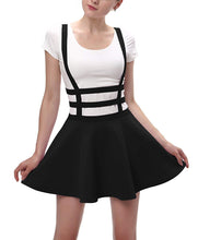 Load image into Gallery viewer, Urban CoCo Womens Elastic Waist Pleated Short Braces Skirt