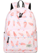 Load image into Gallery viewer, Mygreen Polka Dot Canvas School Backpack Bag, Cute Bookbag for Teen Girls Womens