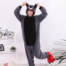 Load image into Gallery viewer, WOTOGOLD Animal Cosplay Costume Raccoon Unisex Adult Pajamas