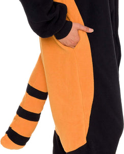 Silver Lilly Unisex Adult Pajamas - Plush One Piece Cosplay Red Panda Animal Costume