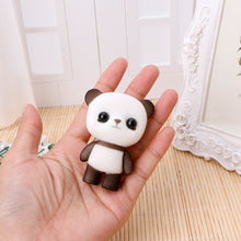 Load image into Gallery viewer, OHTOP Plastic Flocking Duck Panda Puppy Doll Small Cute Cartoon Animal Plush