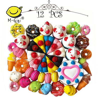 Jumbo Slow Rising Kawaii Squishies Plus Mini Squishy Toy Keychains